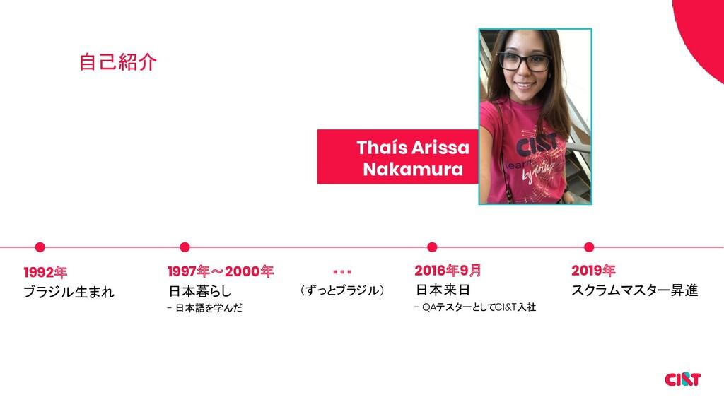 自己紹介 1992年 ブラジル生まれ 1997年〜2000年 日本暮らし - 日本語を学んだ ...