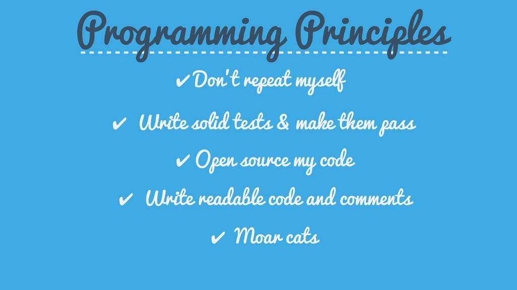 ✔ Write readable code and comments Programming ...