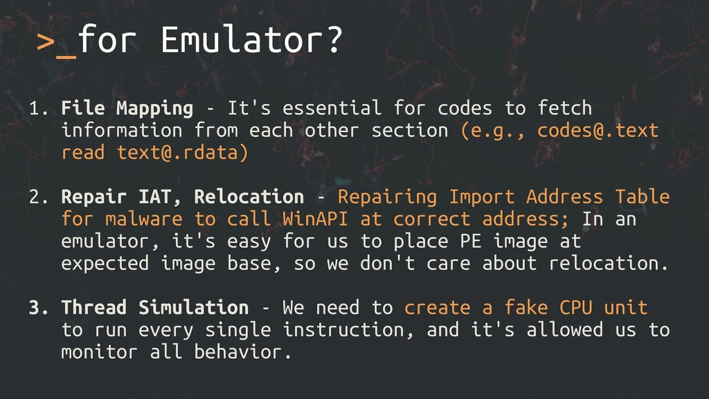 >_for Emulator? 1. File Mapping - It's essentia...