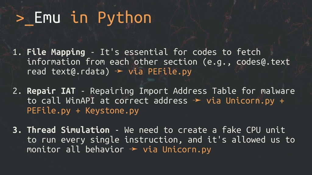 >_Emu in Python 1. File Mapping - It's essentia...