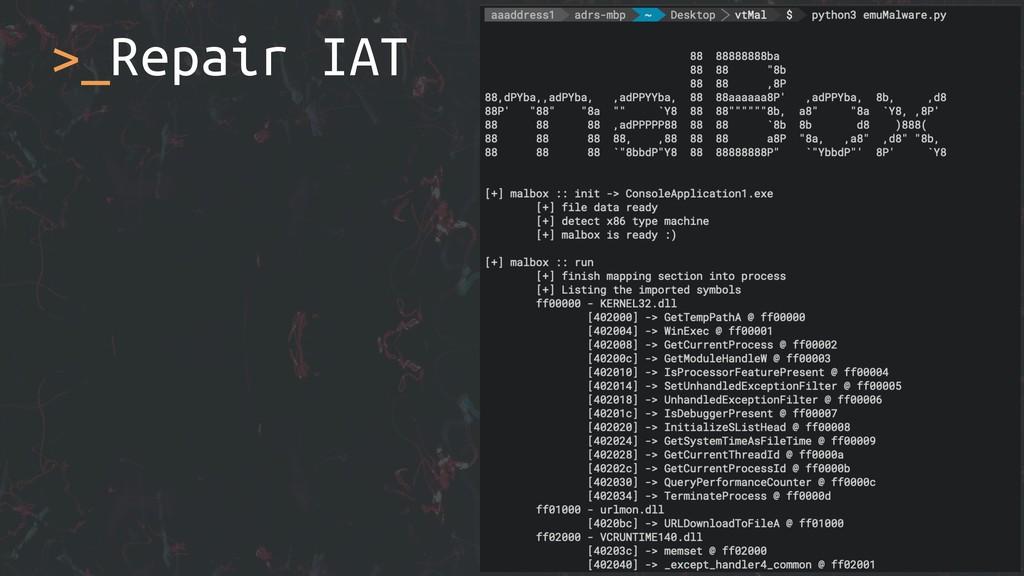 >_Repair IAT
