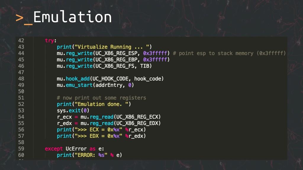 >_Emulation