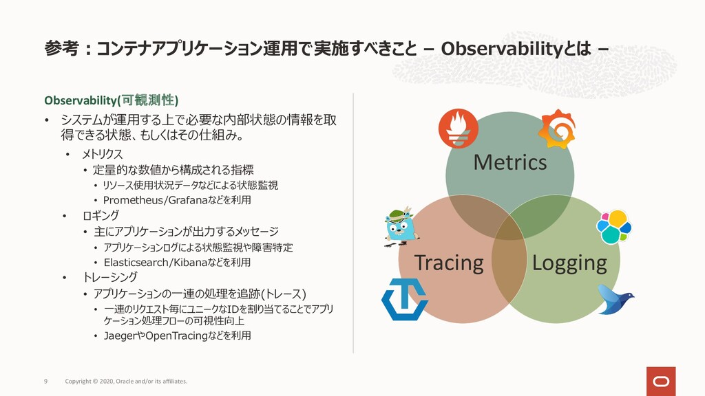 参考︓コンテナアプリケーション運⽤で実施すべきこと – Observabilityとは – C...
