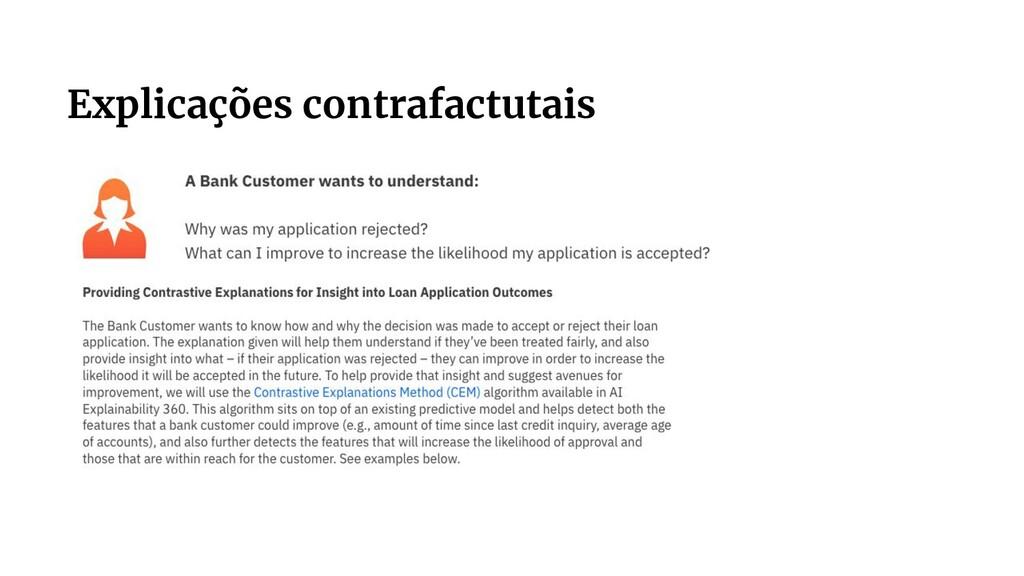 Explicações contrafactutais