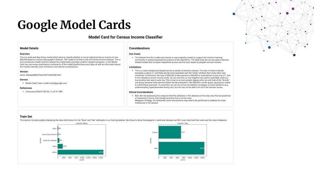 Google Model Cards
