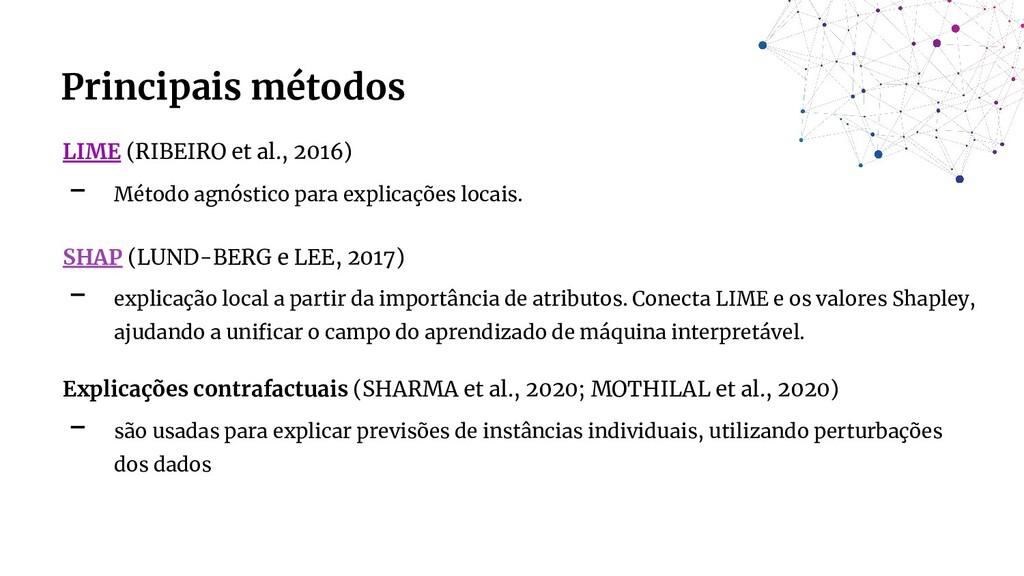 LIME (RIBEIRO et al., 2016) - Método agnóstico ...