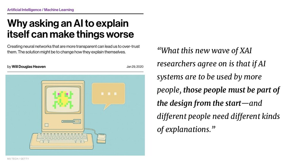 """""""What this new wave of XAI researchers agree on..."""
