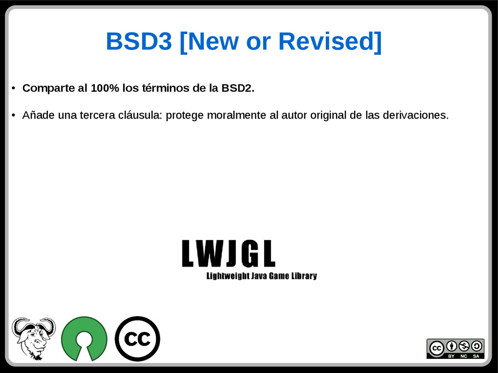 BSD3 [New or Revised] ● Comparte al 100% los té...