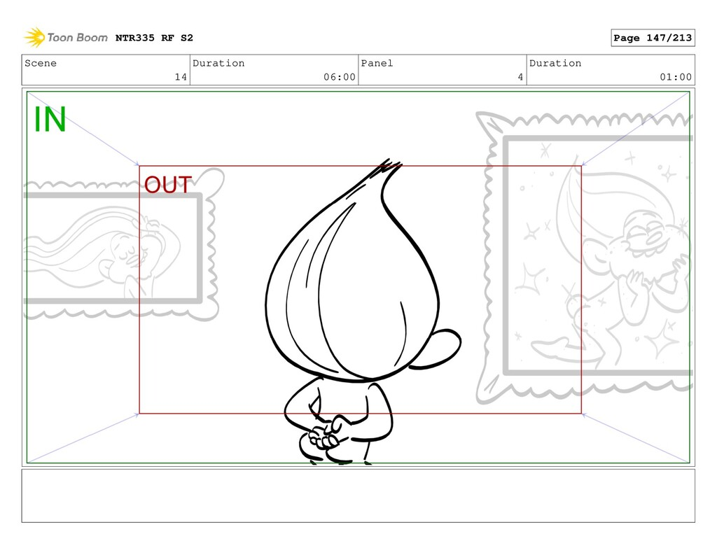Scene 14 Duration 06:00 Panel 4 Duration 01:00 ...