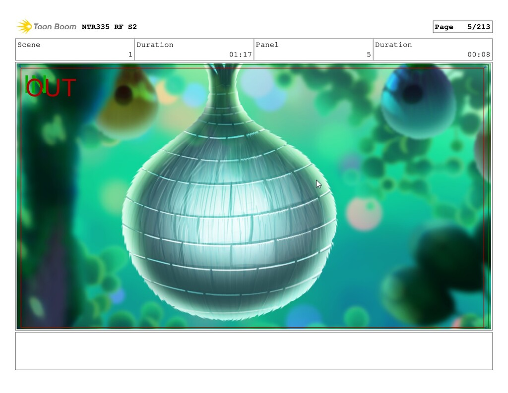 Scene 1 Duration 01:17 Panel 5 Duration 00:08 N...