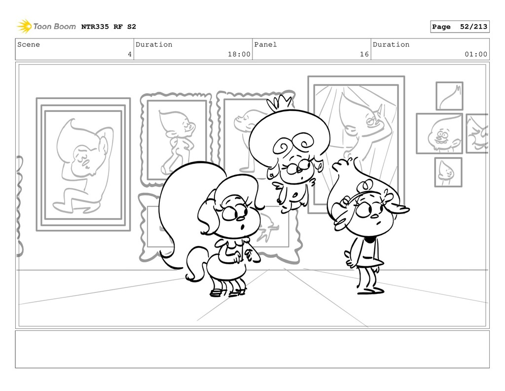 Scene 4 Duration 18:00 Panel 16 Duration 01:00 ...