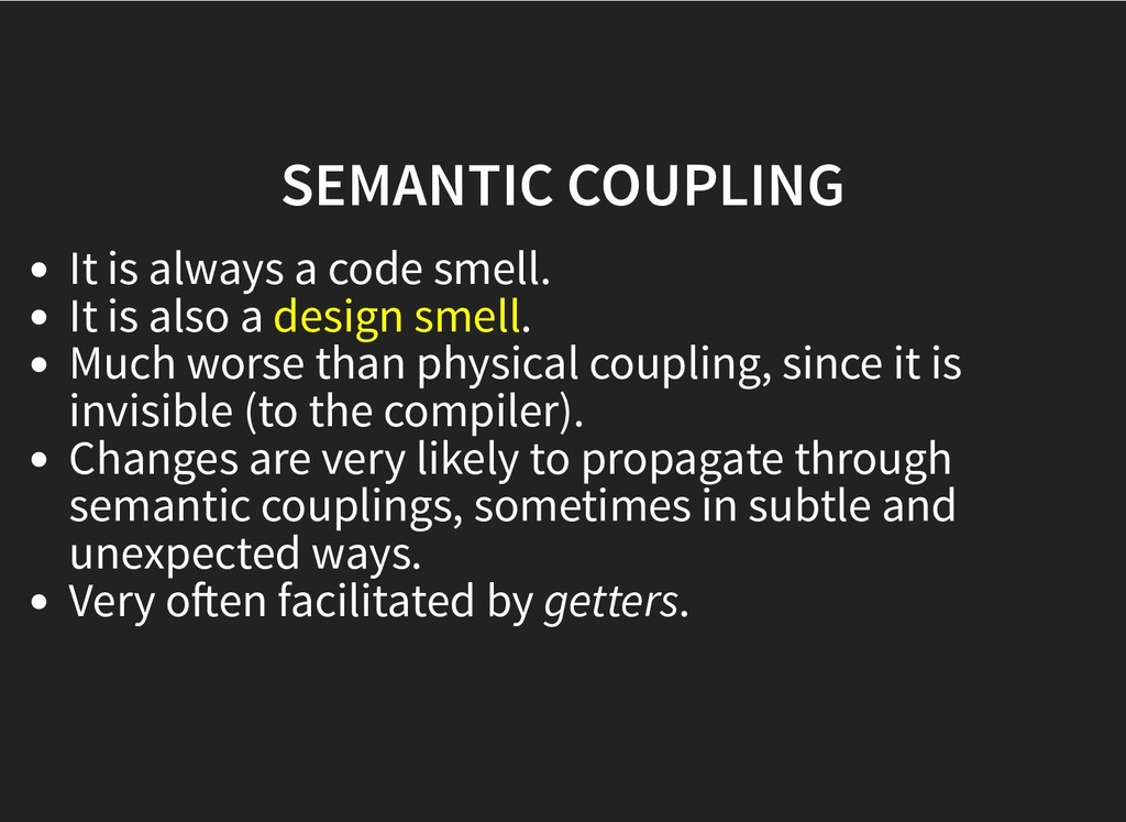 SEMANTIC COUPLING SEMANTIC COUPLING It is alway...