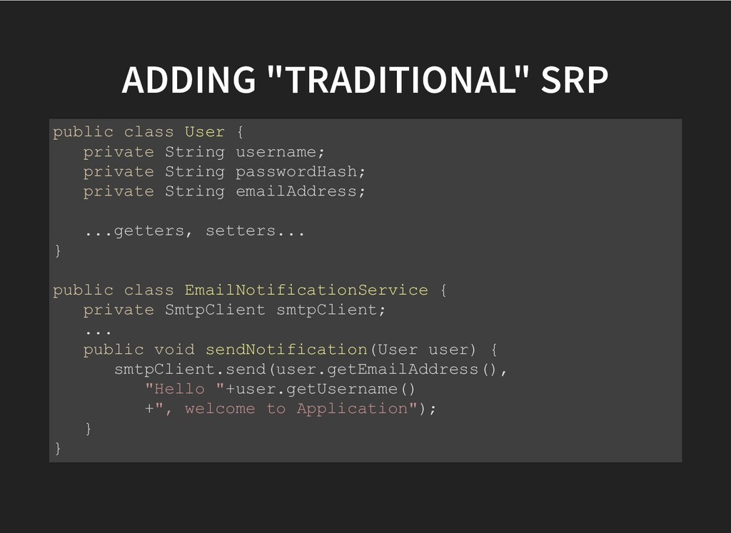 "ADDING ""TRADITIONAL"" SRP ADDING ""TRADITIONAL"" S..."