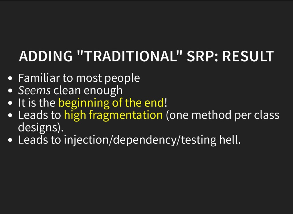 "ADDING ""TRADITIONAL"" SRP: RESULT ADDING ""TRADIT..."