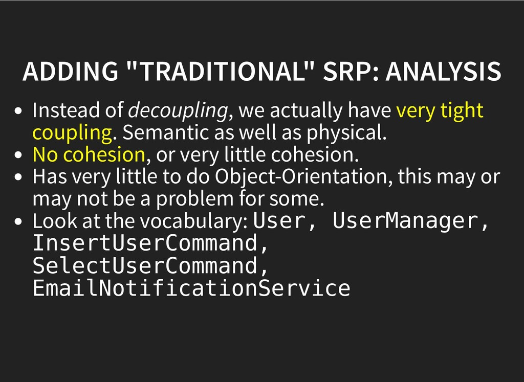 "ADDING ""TRADITIONAL"" SRP: ANALYSIS ADDING ""TRAD..."