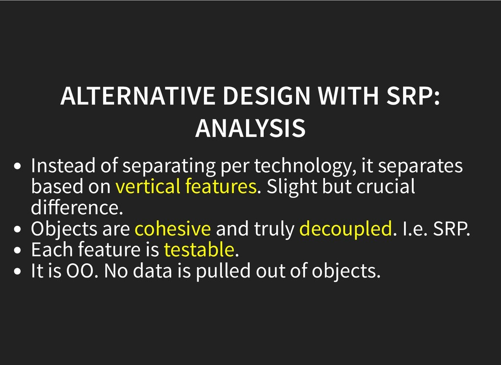 ALTERNATIVE DESIGN WITH SRP: ALTERNATIVE DESIGN...