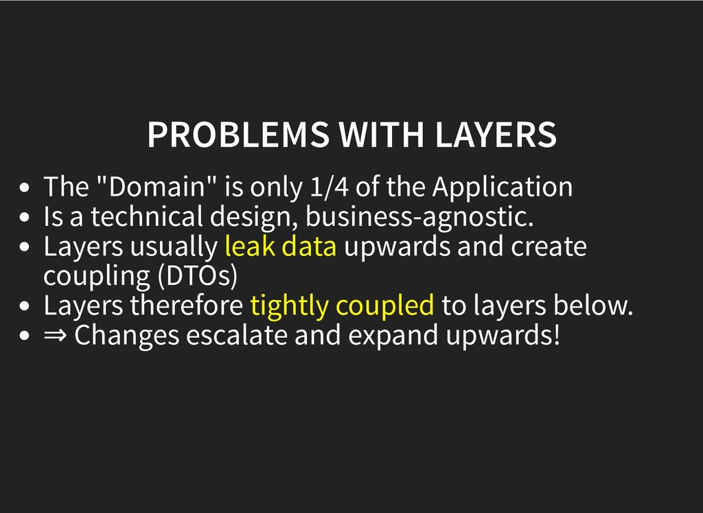 "PROBLEMS WITH LAYERS PROBLEMS WITH LAYERS The ""..."