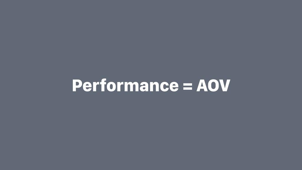 Performance = AOV