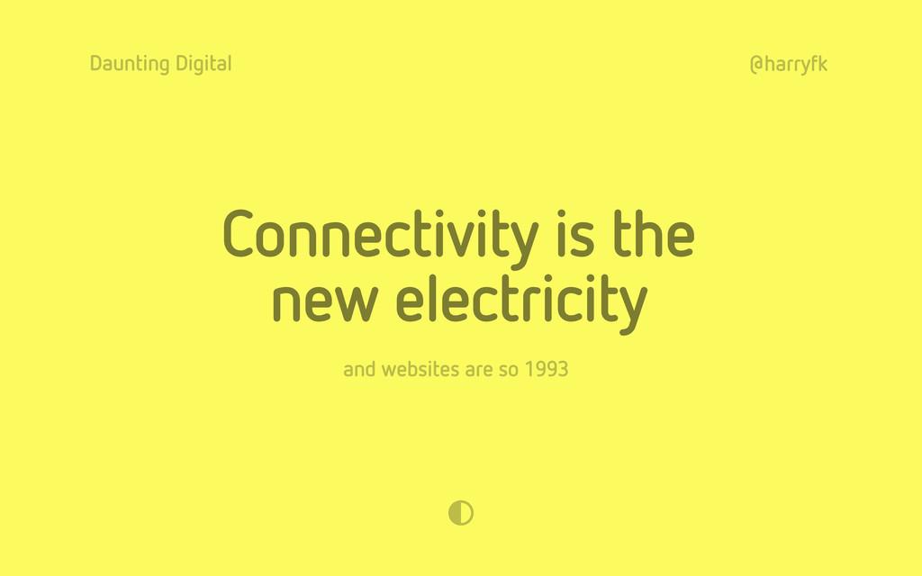 Daunting Digital @harryfk Connectivity is the n...
