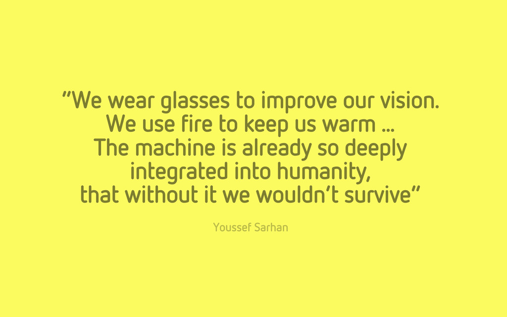 """""""We wear glasses to improve our vision. We use ..."""