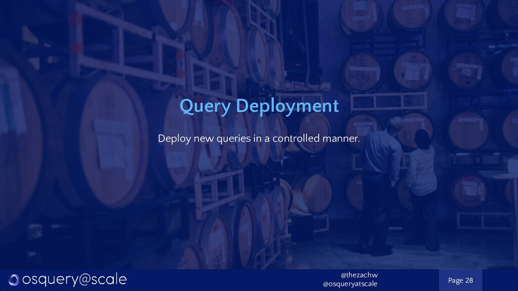 Query Deployment Deploy new queries in a contro...