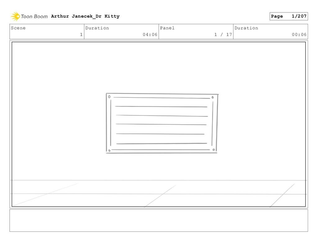 Scene 1 Duration 04:06 Panel 1 / 17 Duration 00...