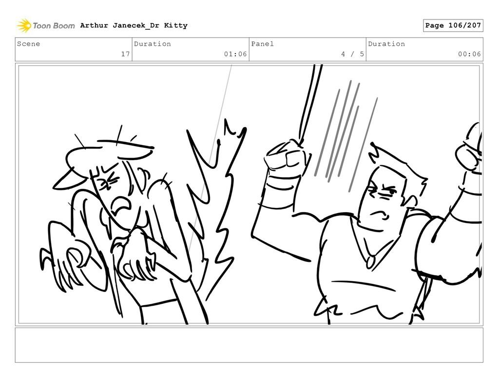 Scene 17 Duration 01:06 Panel 4 / 5 Duration 00...