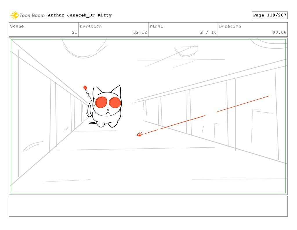 Scene 21 Duration 02:12 Panel 2 / 10 Duration 0...