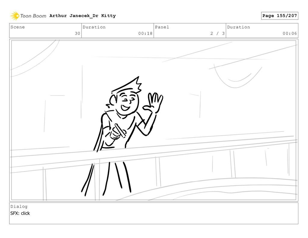 Scene 30 Duration 00:18 Panel 2 / 3 Duration 00...