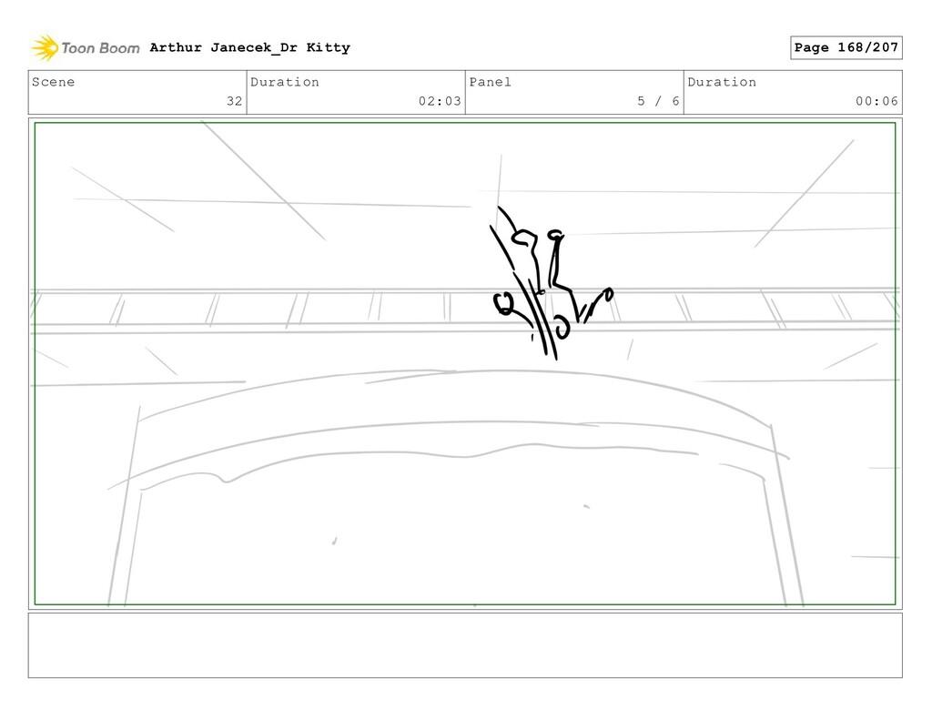 Scene 32 Duration 02:03 Panel 5 / 6 Duration 00...