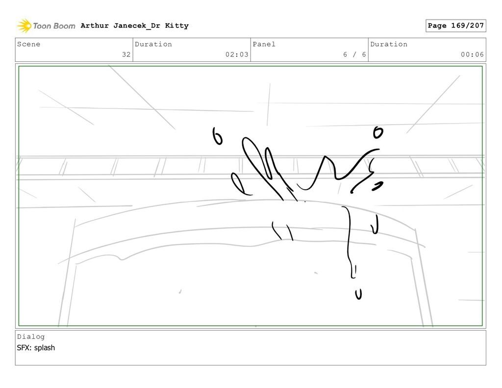 Scene 32 Duration 02:03 Panel 6 / 6 Duration 00...