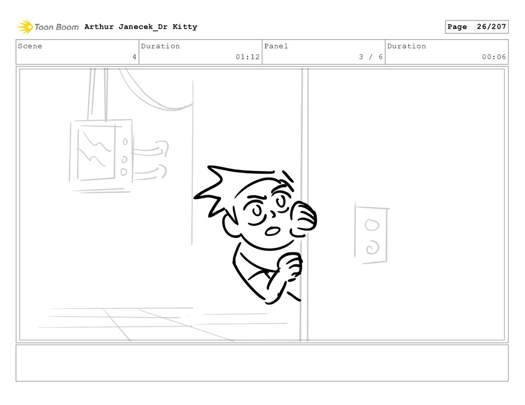 Scene 4 Duration 01:12 Panel 3 / 6 Duration 00:...
