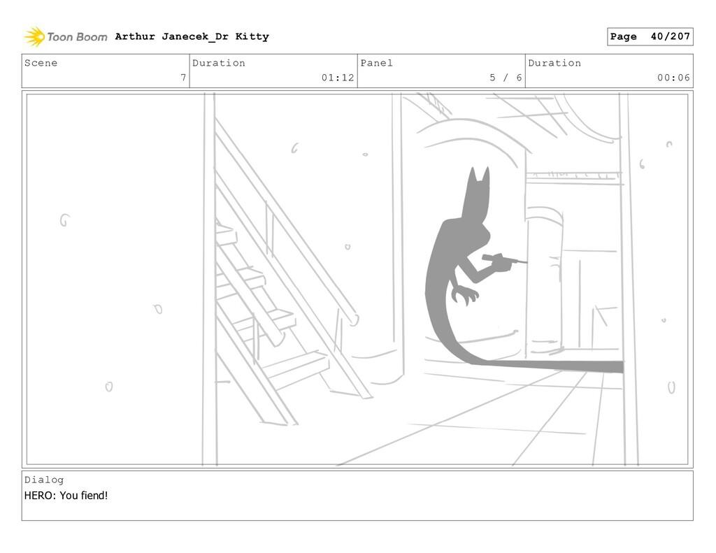 Scene 7 Duration 01:12 Panel 5 / 6 Duration 00:...