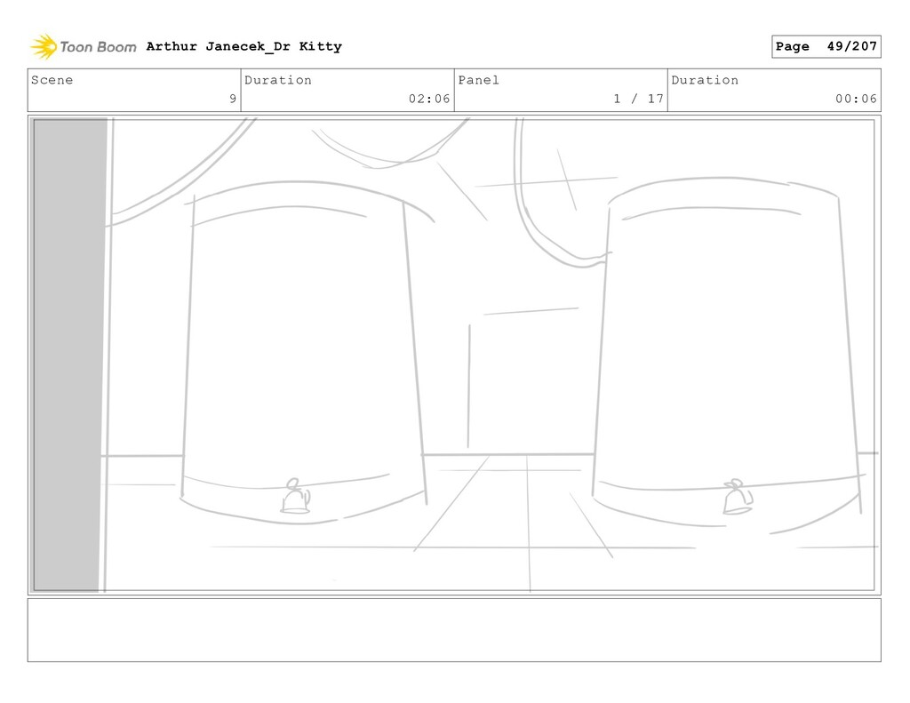 Scene 9 Duration 02:06 Panel 1 / 17 Duration 00...