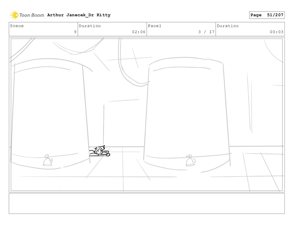 Scene 9 Duration 02:06 Panel 3 / 17 Duration 00...