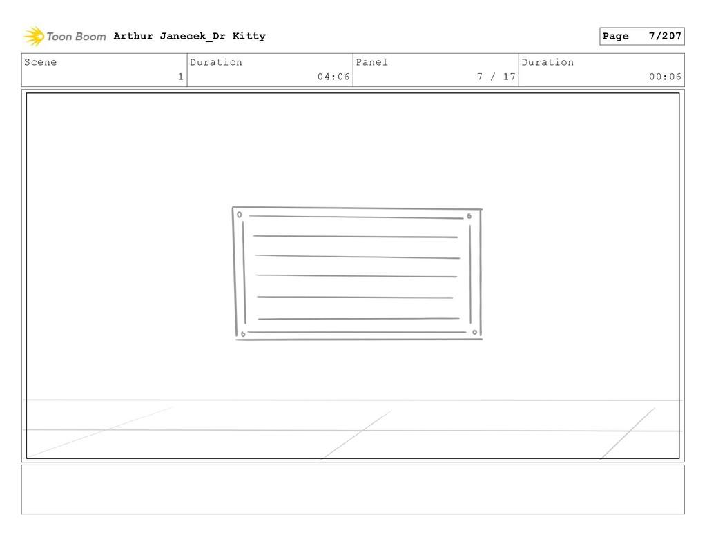 Scene 1 Duration 04:06 Panel 7 / 17 Duration 00...