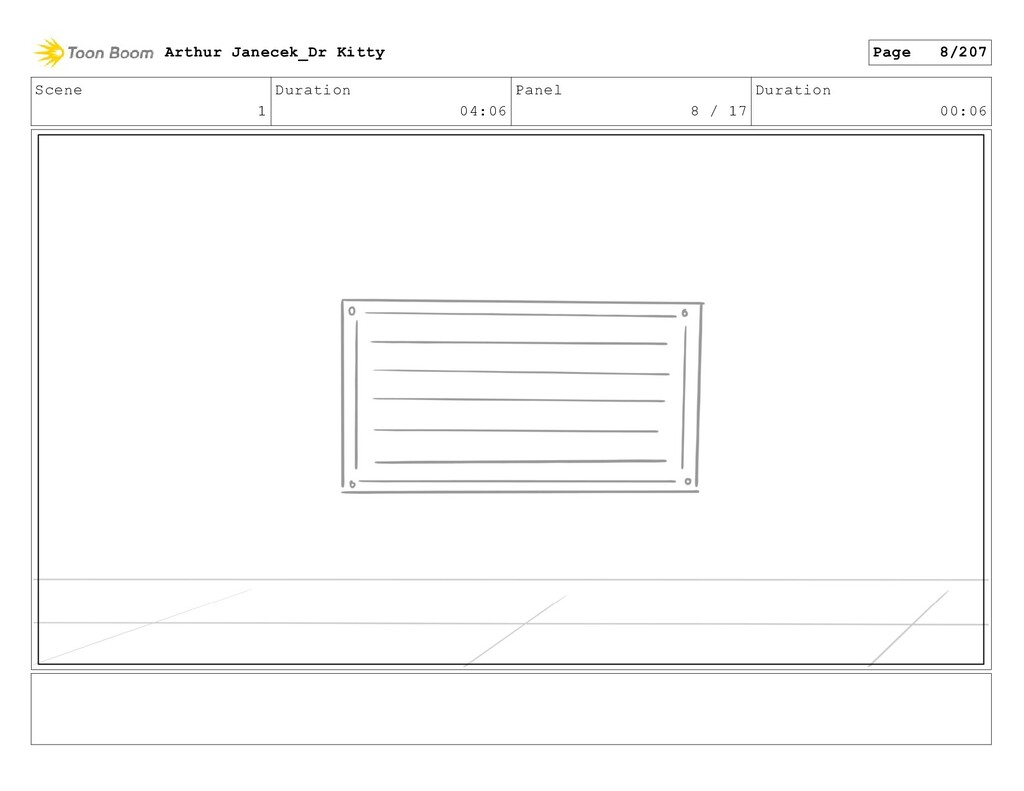 Scene 1 Duration 04:06 Panel 8 / 17 Duration 00...
