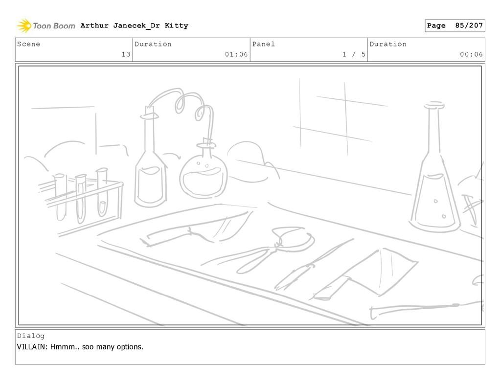 Scene 13 Duration 01:06 Panel 1 / 5 Duration 00...