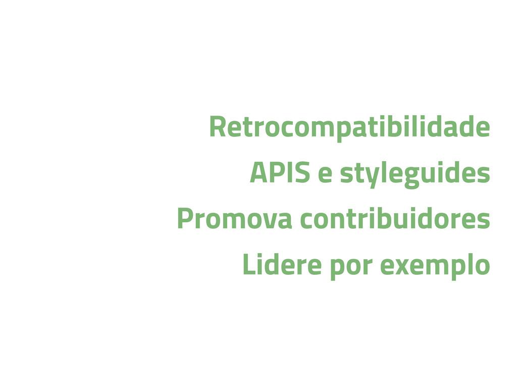 Retrocompatibilidade APIS e styleguides Promova...