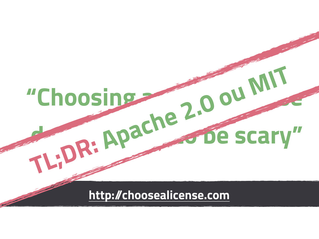 """""""Choosing a n OSS license doesn't need to be sc..."""