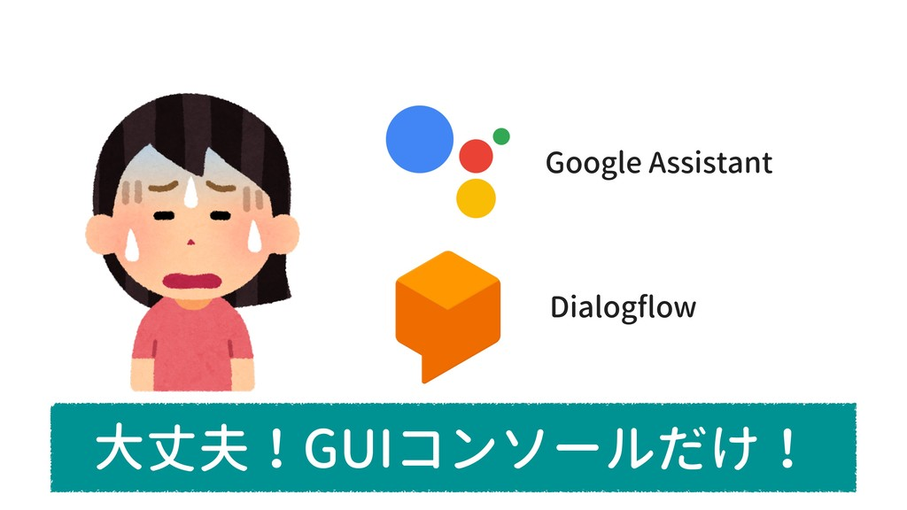 Google Assistant Dialogflow 大丈夫!GUIコンソールだけ!
