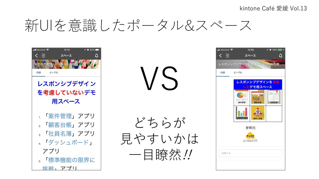 kintone Café 愛媛 Vol.13 新UIを意識したポータル&スペース VS どちら...