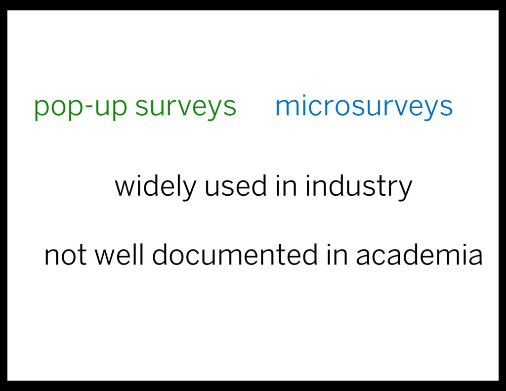 pop-up surveys microsurveys widely used in indu...