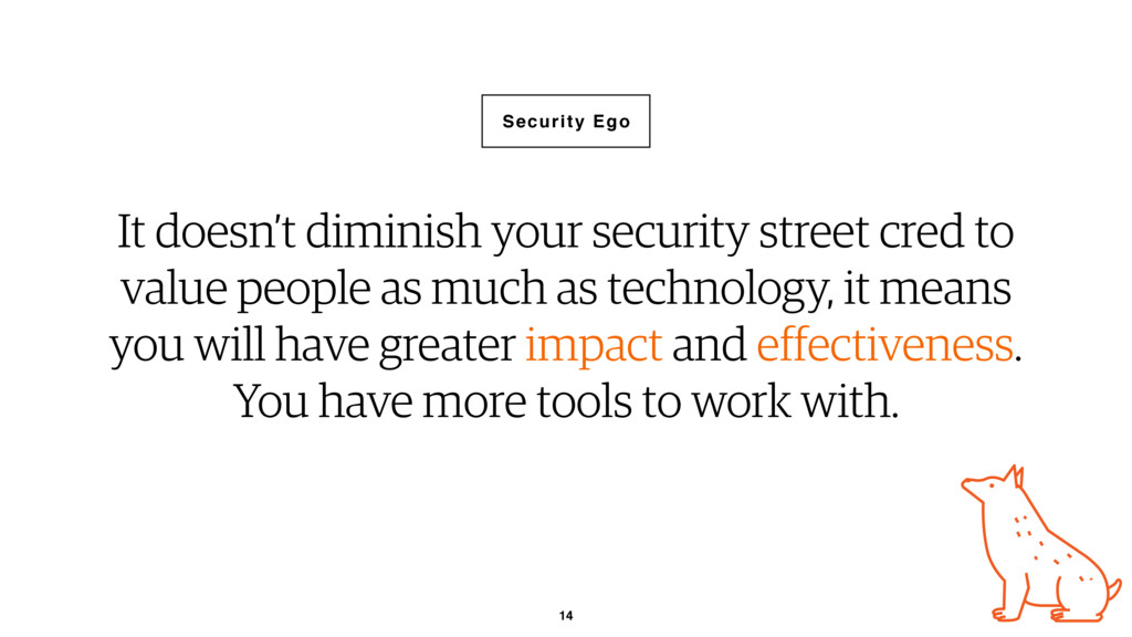 14 It doesn't diminish your security street cre...