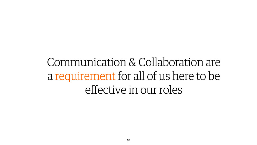 18 Communication & Collaboration are a requirem...