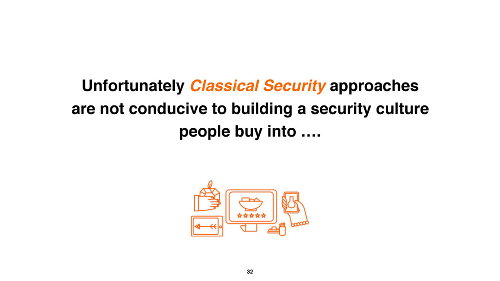 32 Unfortunately Classical Security approaches ...