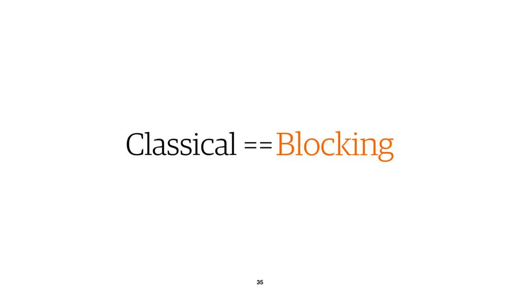 35 Classical ==Blocking