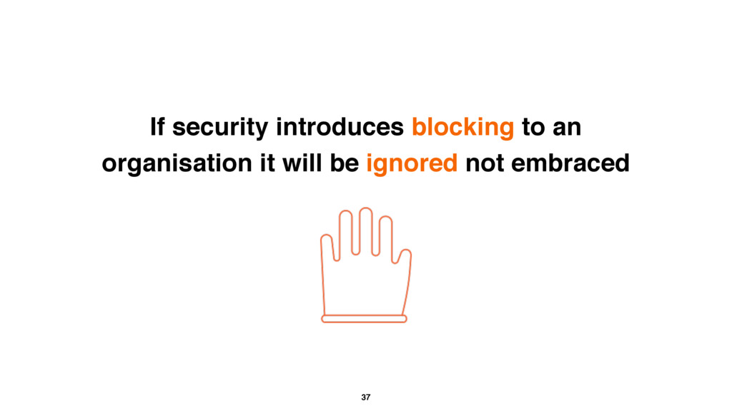 37 If security introduces blocking to an organi...