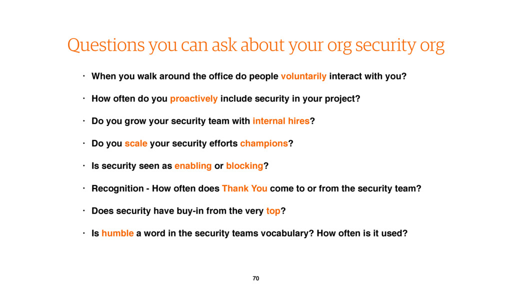70 Questions you can ask about your org securit...