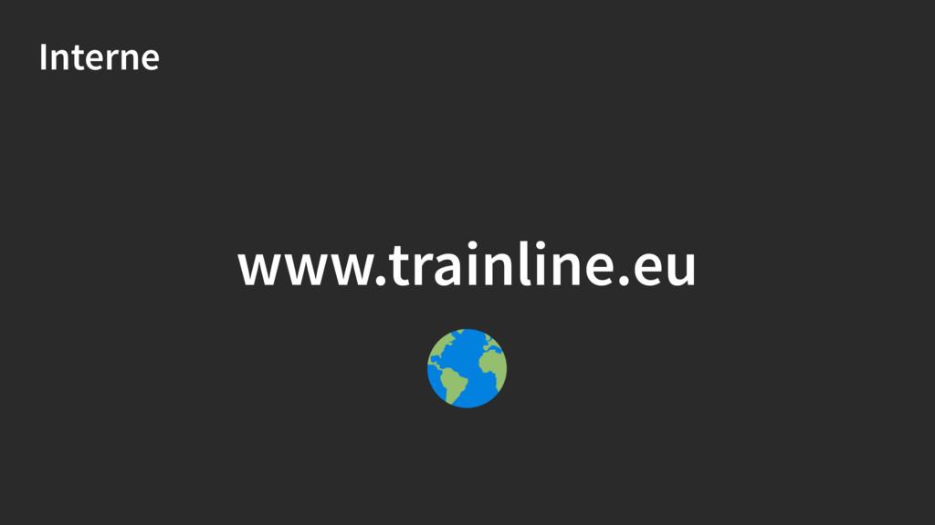 Interne www.trainline.eu